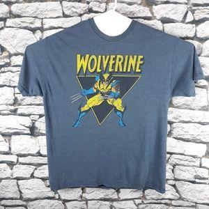 Marvel Comics Wolverine Blue Retro Tee T-Shirt VTG